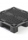 Plastic stackable export pallet 1100x1100mm with 3 or 6-runners