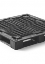 Plastic stackable export pallet 1140x1140mm with 3 or 6-runners