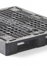 Plastic stackable medium duty pallet 1200x1000mm with 3 or 6-runners