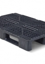 Plastic stackable heavy duty pallet 1200x800mm with 3 or 5-runners