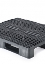 Plastic stackable export or reusable heavy duty pallet in size 1200x1000mm with 3,5 or 6-runners