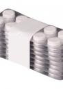 Medikamentenstreifen mit weißem Filmband gebündelt